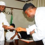 PHOTO NEWS: Top Managers Of NTA Visit The Governor of Osun State