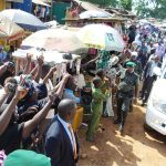 PHOTO NEWS: Huge Crowd Turn Out As Gov. Aregbesola Inspects Projects