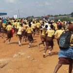 PHOTO NEWS: Students Throng On Aregbesola Over School Re-classification