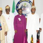 PHOTO NEWS: Anglican Bishop Visits Aregbesola, Lauds Him For Constructing B/Court Road
