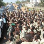 PHOTO NEWS: Ilesa Students Bring Traffic To A Stop For Aregbesola