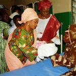 PHOTO NEWS: Mrs. Aregbesola Presents Gifts To Osun's 1st Baby Of The Year