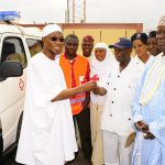 PHOTO NEWS: Aregbesola Presents Ambulance To Red Cross Society Of Nigeria