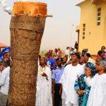 PHOTO NEWS: Gov. Aregbesola Unveils The World's Tallest Drum