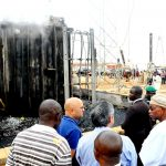 PHOTO NEWS: Aregbesola Visits Scene Of Fire Outbreak At National Control Centre, Osogbo Sub-Region