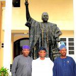 Aregbesola, Fayemi, Amosun Share A Photo Moment In Abuja