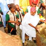 PHOTO NEWS: Aregbesola Turns Sod For Construction Of Modern Abattoir In Iwo