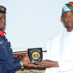 PHOTO NEWS: Nigeria Security And Civil Defence Corps Boss Visits Aregbesola