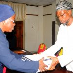 PHOTO NEWS: Aregbesola Receives Report On Discipline In Osun Public Schools