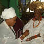 PHOTO NEWS: Aregbesola Visits President General Of Iyalode Not Market Women In Ile-Ife