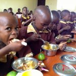 PHOTO MOMENT: Pupils In Osun Enjoying Their O'Meal