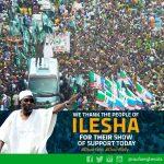 THANK YOU: Ilesa Mega Rally