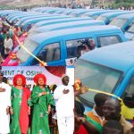 PHOTO NEWS: Commissioning Of Osun Micro-Credit Agency And Distribution Of Mini Buses To Members Of The Cooperative Transporters And Road Transport Employers Association Of Nigeria