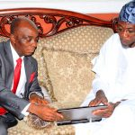 PHOTO NEWS: Bishop Oyedepo Visits Aregbesola