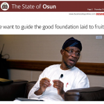 INTERVIEW: We Want To Guide The Good Foundation Laid To Fruition - Aregbesola