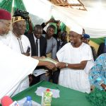 PHOTO NEWS: INEC Presents Certificate Of Return To Governor Aregbesola