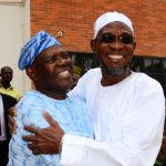 PHOTO NEWS: Former National Chairman Of APC Hosts Aregbesola On His Victory