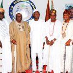PHOTO NEWS: Osun Conference Of Obas Congratulates Aregbesola