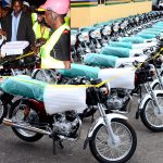 PHOTO NEWS: Okada Riders Endorse Aregbesola's Re-election, Recieve 500 Motorcycles