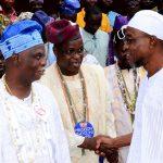PHOTO NEWS: Traditional Religion Faithfuls' Association Visit Aregbesola
