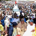 PHOTO NEWS: Crowd Cheers Aregbesola At Eid-el-Kabir Prayer