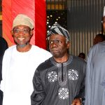 PHOTO NEWS: Aregbesola Rejoices With The First President Of ASUU @ 70