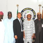 PHOTO NEWS: Governing Council Of The Fountain University Visit Aregbesola