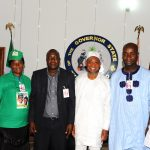 PHOTO NEWS: Aregbesola Receives Educational Materials In Appreciation Of The State Educational Policy