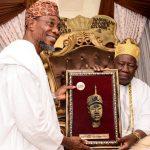 Photonews: Aregbesola Pays Homage To The Olubadan Of Ibadan