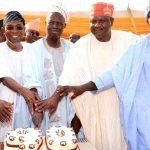PhotoNews: Aregbesola Celebrates Hon. Gbadamosi Lawal at 90