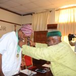 PHOTONEWS: Aregbesola Becomes Grand Patron of Sports Writers Association of Nigeria