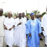Tinubu, Akande, Oyinlola, Osun traditional rulers pay Aregbesola condolence visit over mother's death