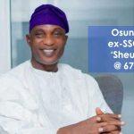 Gov. Oyetola greets 'Sheu', ex- SSG @ 67